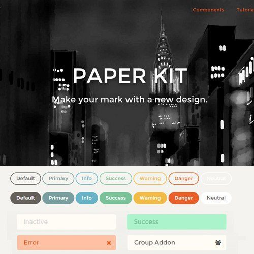 Paper Kit UI brings Color to Bootstrap