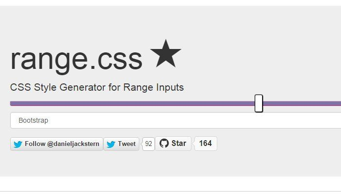 LESS Generated Browser Compatible CSS Range Sliders