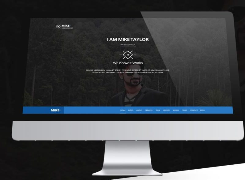Single Page Website – Free PSD