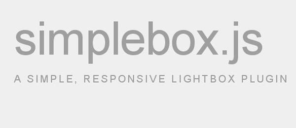 Simplebox.js, a simple, responsive lightbox plugin