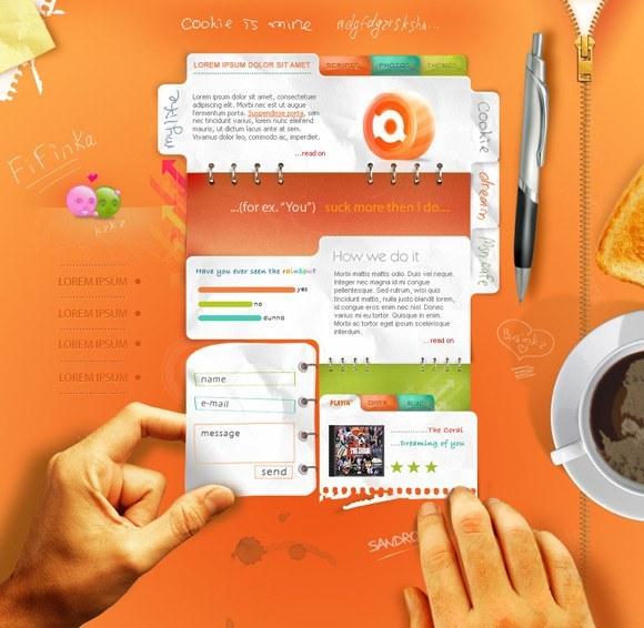Fresh List of Most Creative Web Design Interfaces