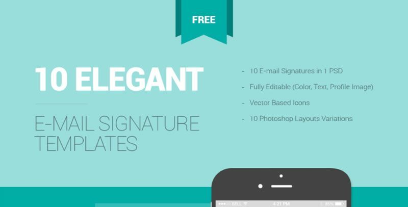10 free email signature templates with awesome designs for Free email signature template