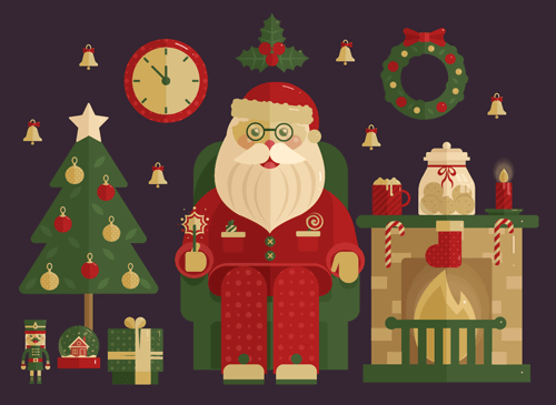 Freebie: Christmas Icons Set (110 Icons, AI, PSD, EPS)