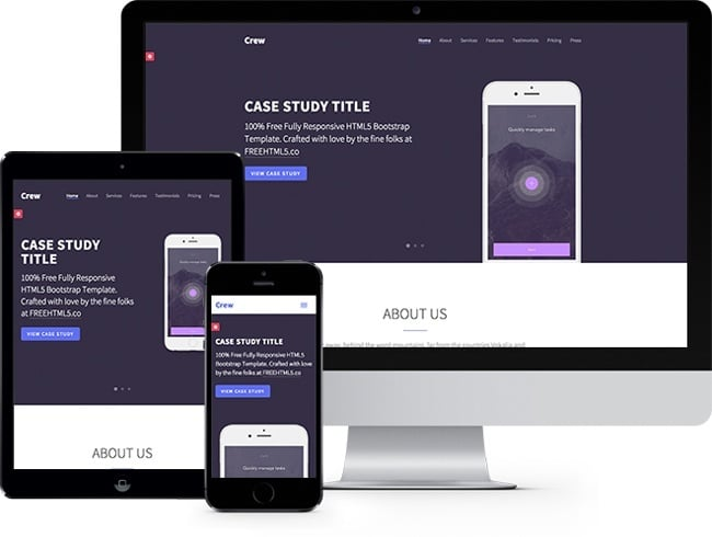 FREE HTML5 Bootstrap Template