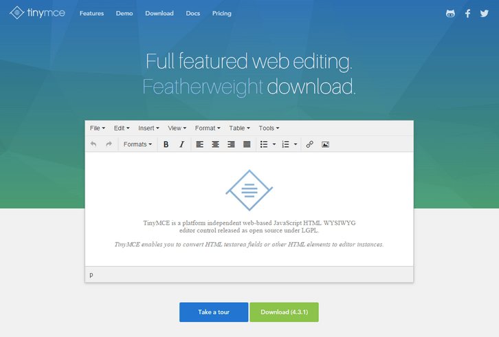 TinyMCE – The JavaScript Rich Text editor | Best 4 Web Design