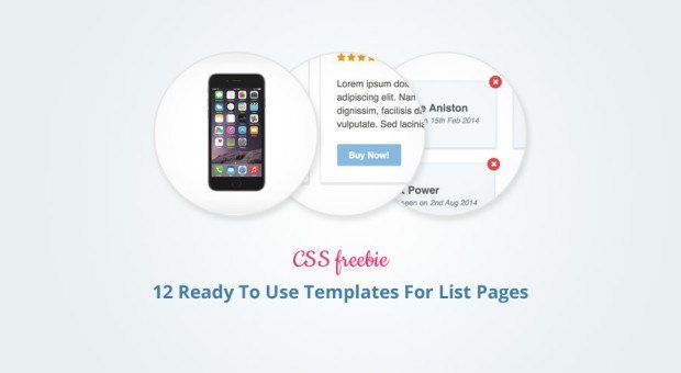 12 Ready To Use Templates For List Pages
