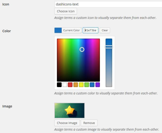 How to Assign Icons, Images, and Colors to Categories and Tags in The WordPress Backend