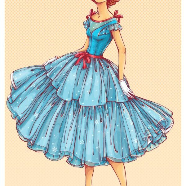 How to Create a 50s Fashion Illustration in Adobe Illustrator