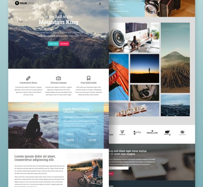 Mountain King – Onepage HTML5/CSS3 Template