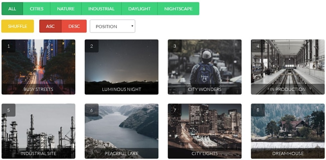 jQuery Plugin to Apply Filters Over Responsive Galleries