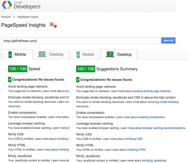 Optimizing Google PageSpeed to 100 inWordPress