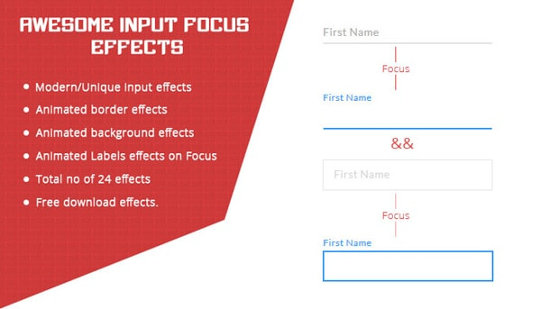 Awesome input focus effects with CSS