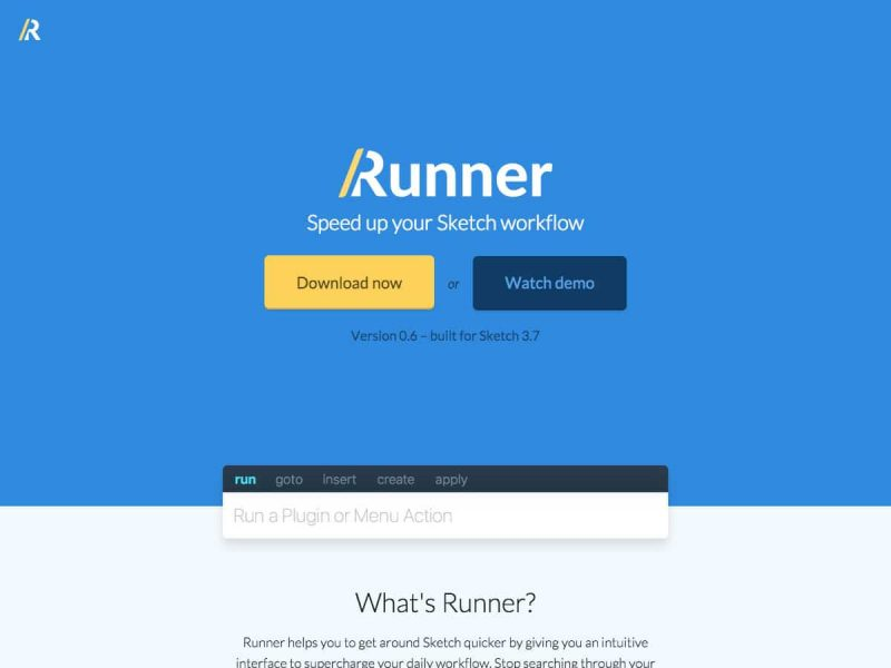 Speed up your Sketch workflow – Runner