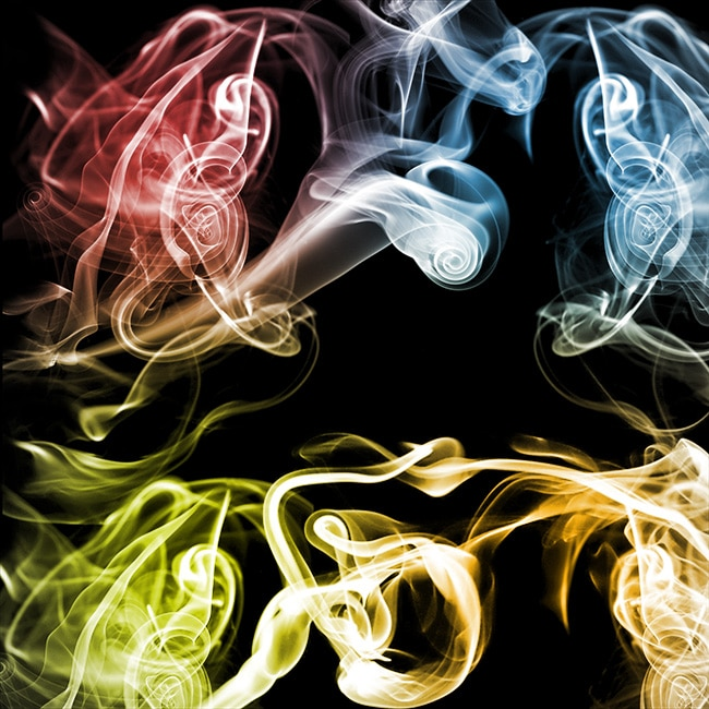 Colorful free smoke texture