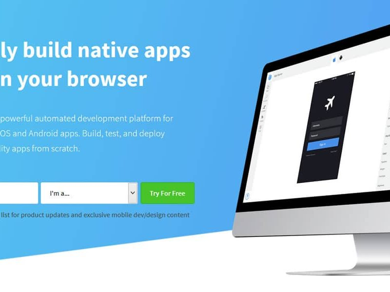 Visually build native apps right in your browser