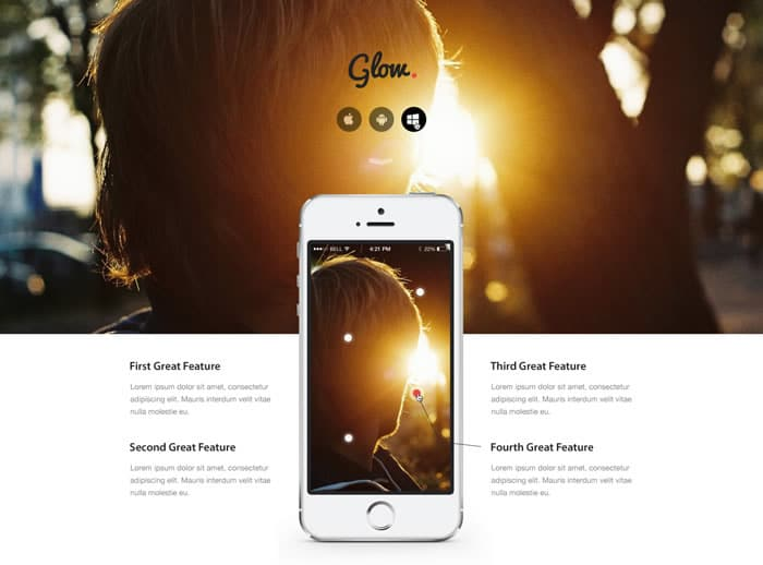 Glow PSD Theme Free Download