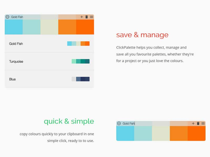 ClickPalette the simple colour manager