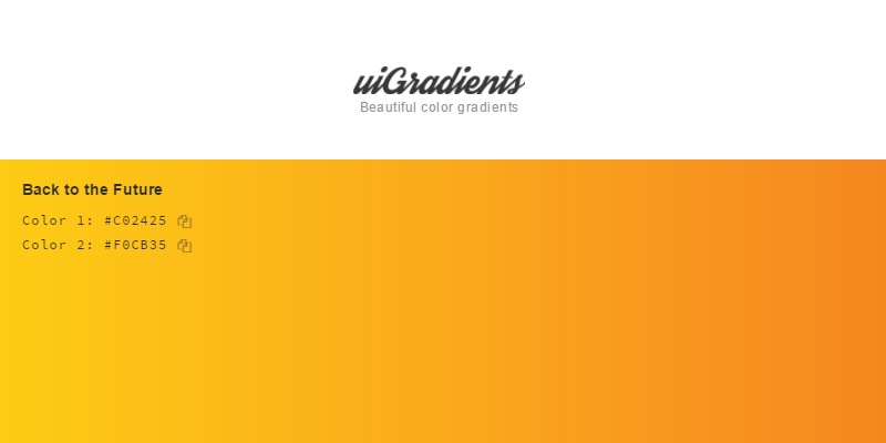 uiGradients: Beautiful Colored Gradients