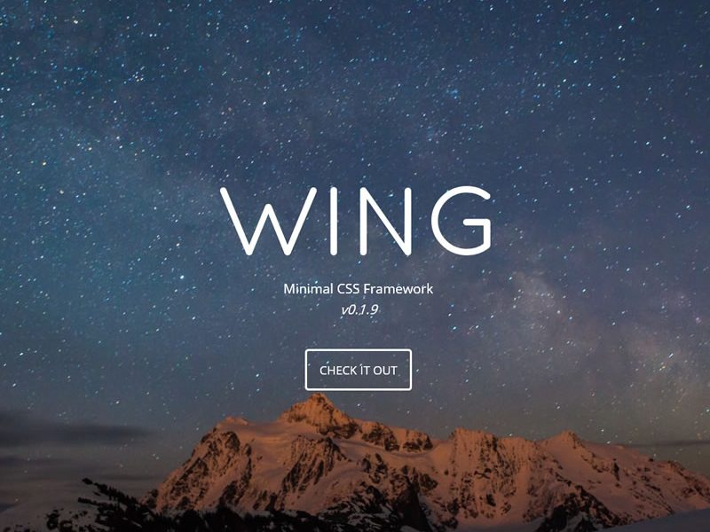 Minimal, Responsive CSS Framework – Wing