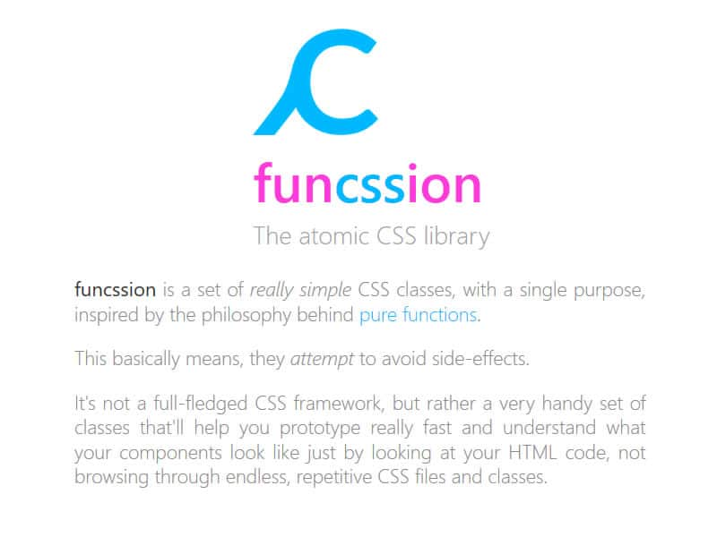 Funcssion, the atomic CSS library