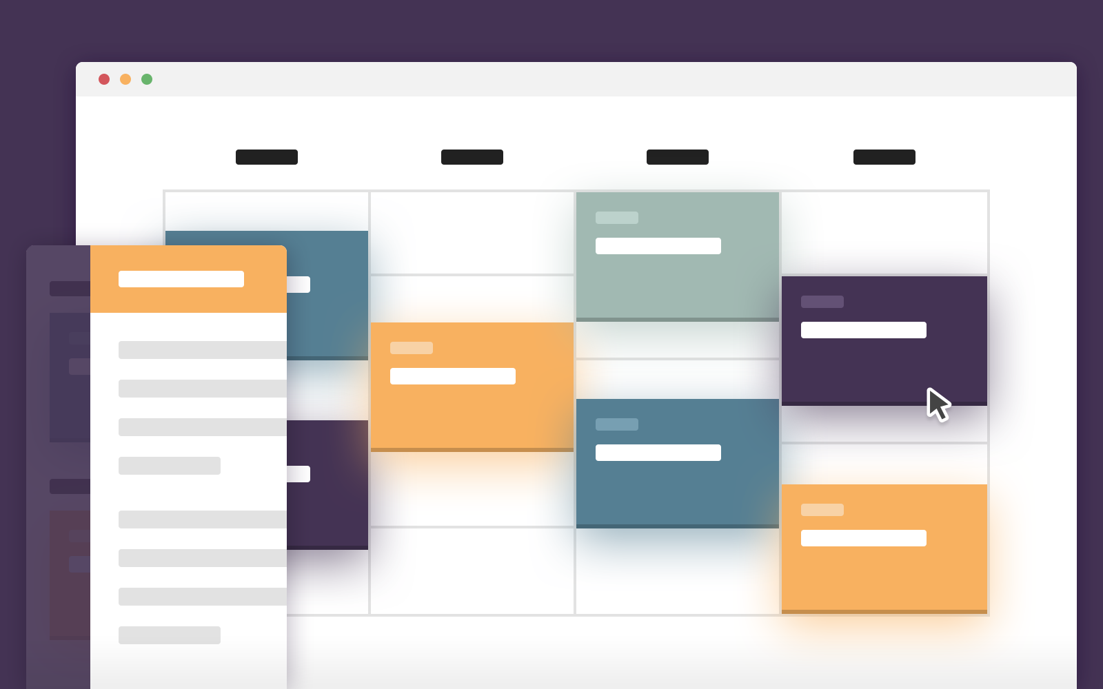Table Calendar Jquery : Schedule template