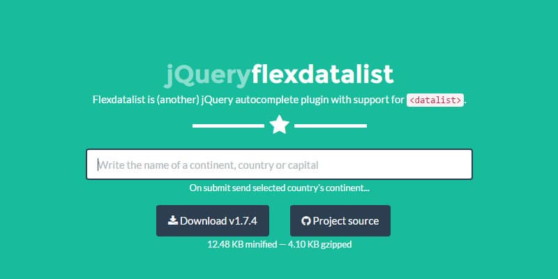 Flexdatalist is (another) jQuery autocomplete