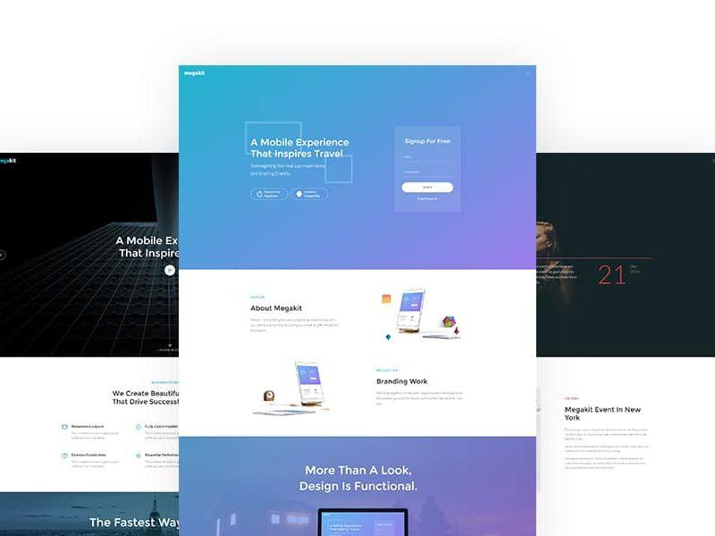 Megakit: Parallax Multi-purpose Bootstrap Website Template