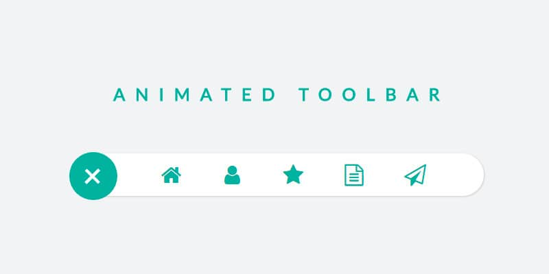 jQuery & CSS Animated Toolbar Icons
