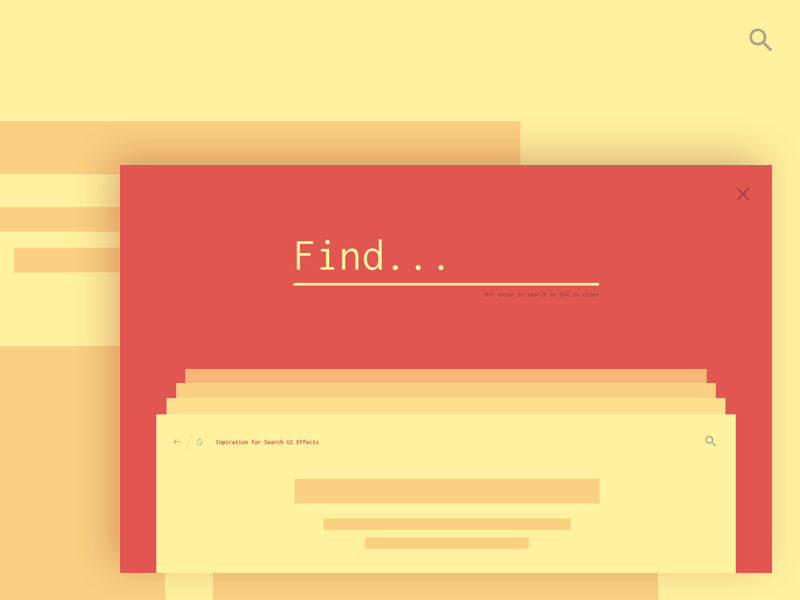 Inspiration for Search UI Effects