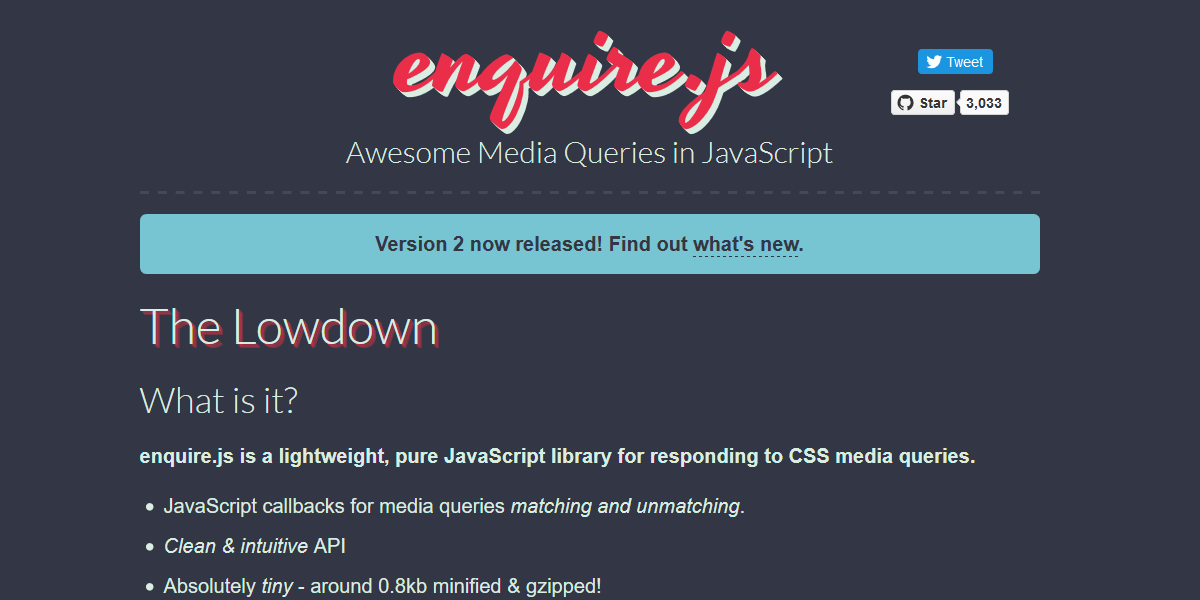 Media Queries in JavaScript