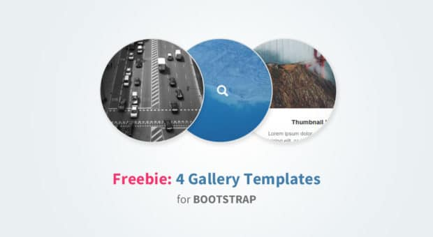 Freebie: 4 Bootstrap Gallery Templates