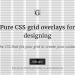 Pure CSS grid overlays for designing