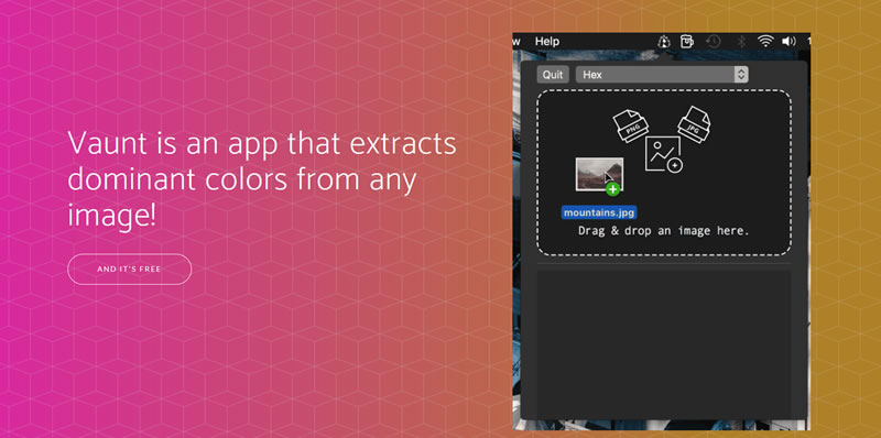Extracts dominant colors from any image
