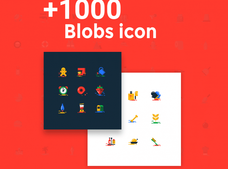 Blobs Flat Icons