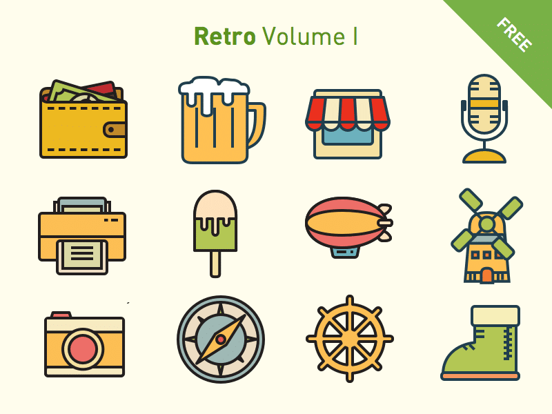 Free vector icons: Retro Volume