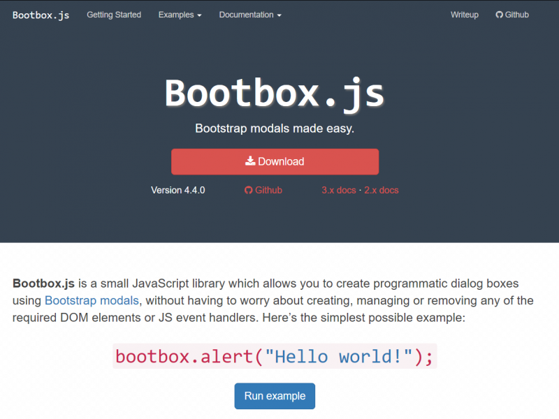 Bootbox.js – alert, confirm and flexible dialogs for the Bootstrap framework