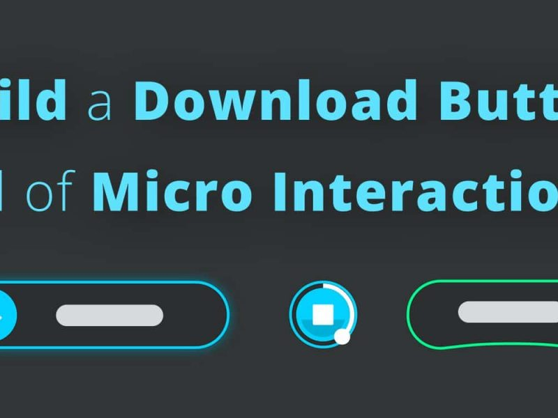 Build a Download Button Full of Micro Interactions