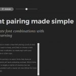 Fontjoy – Generate font pairings in one click