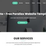 Mate - Free Parallax Website Template