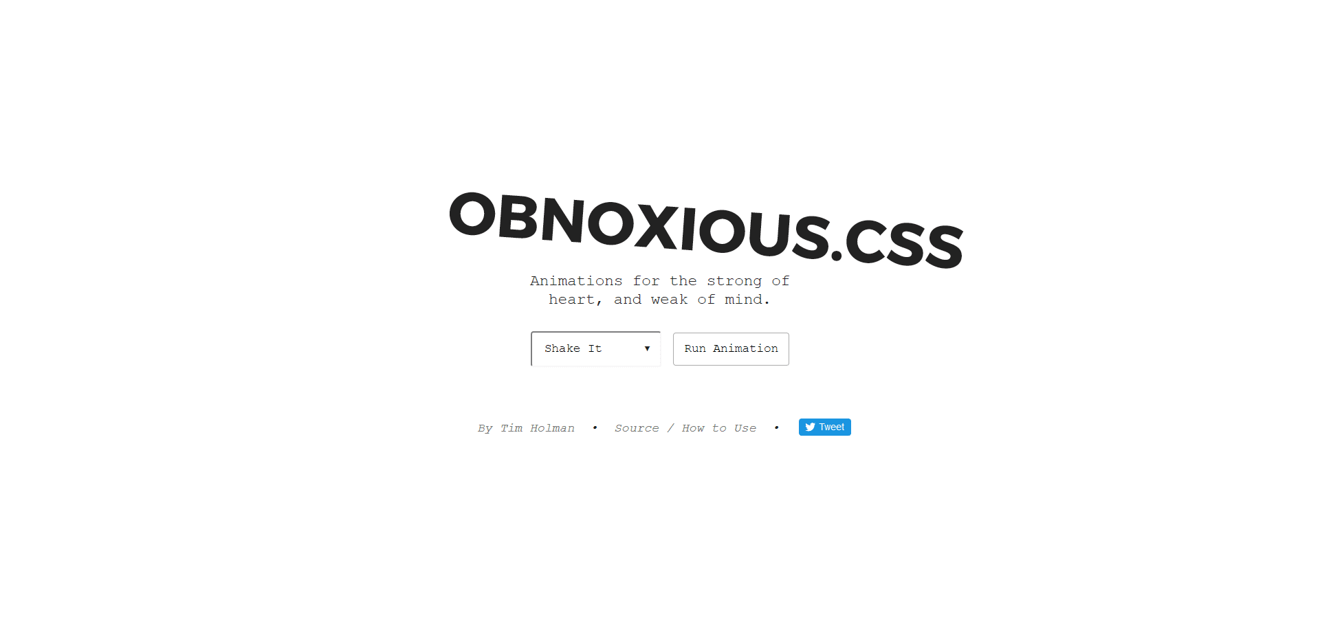 Obnoxious Animation CSS