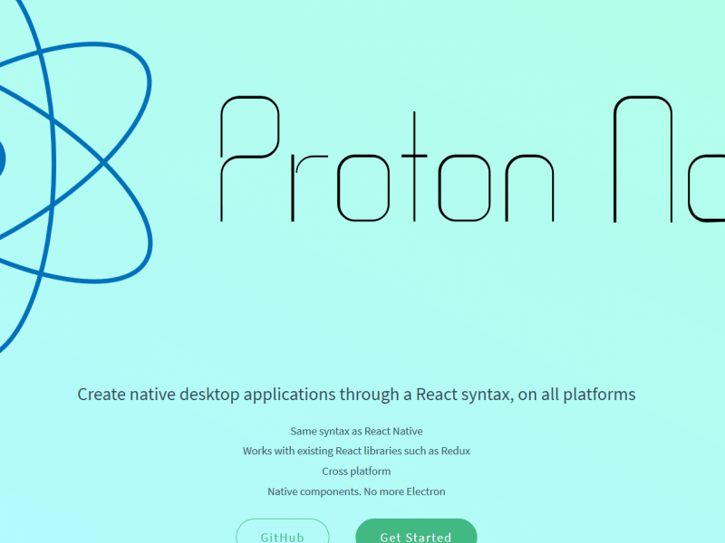 Proton Native – React Native for the desktop, cross compatible