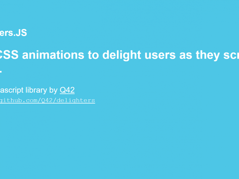 Delighters – CSS Animation