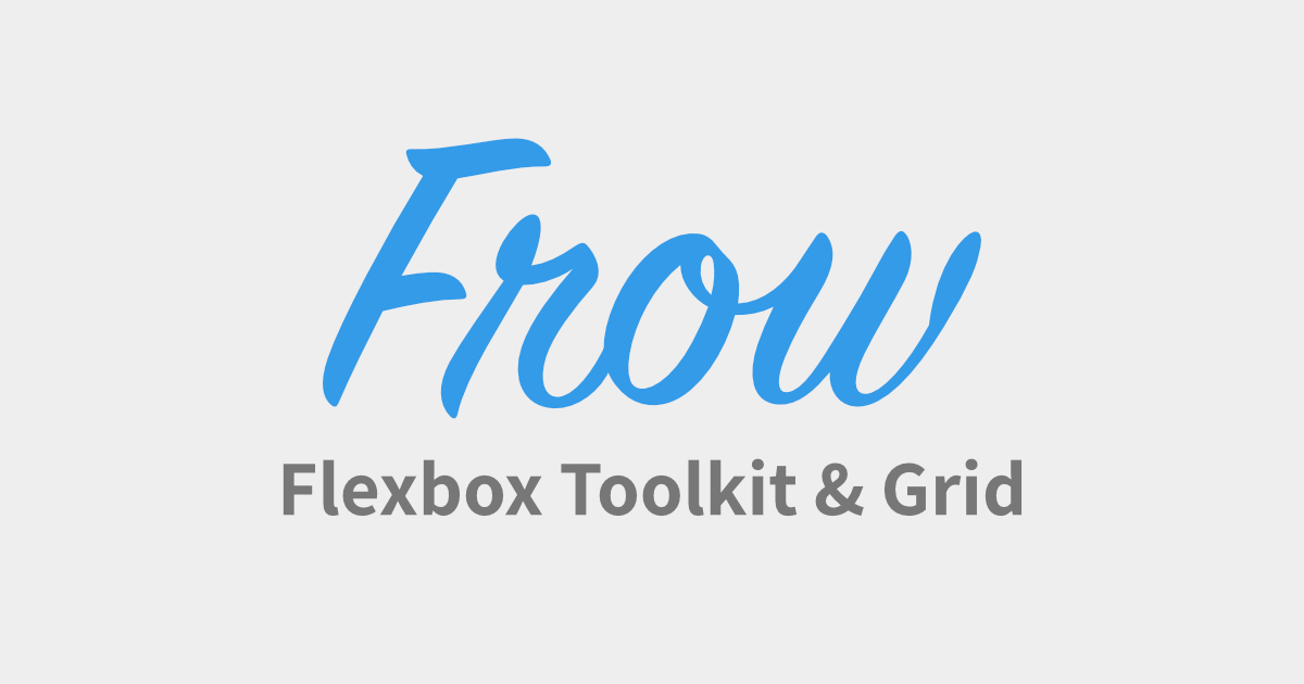 Frow – HTML and CSS framework