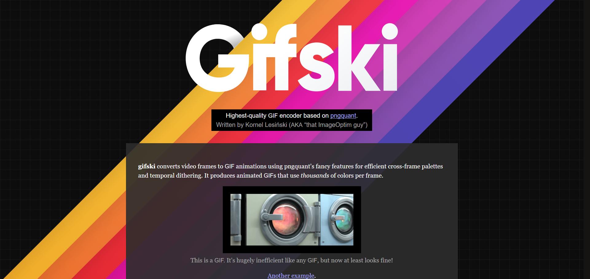Gifski – Highest-quality GIF encoder