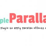 simpleParallax - a jQuery plugin for parallax effects