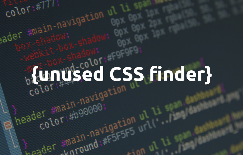 Unused CSS finder