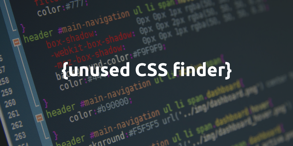 Unused CSS finder