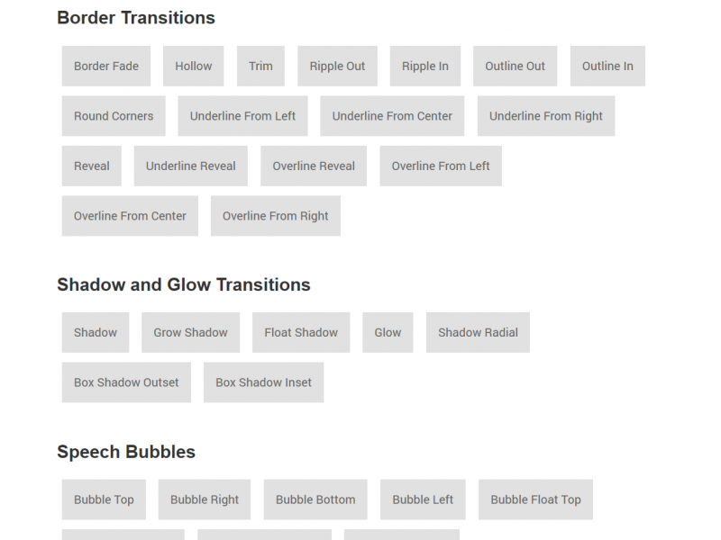 A collection of CSS3 powered hover effects | Best 4 Web Design