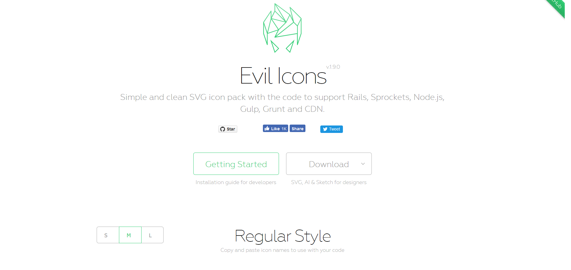 Evil Icons – simple and clean SVG icon pack