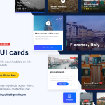 A set of 17 UI cards for free